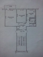 продам 2 комнатную квартиру в Лиде,  центр